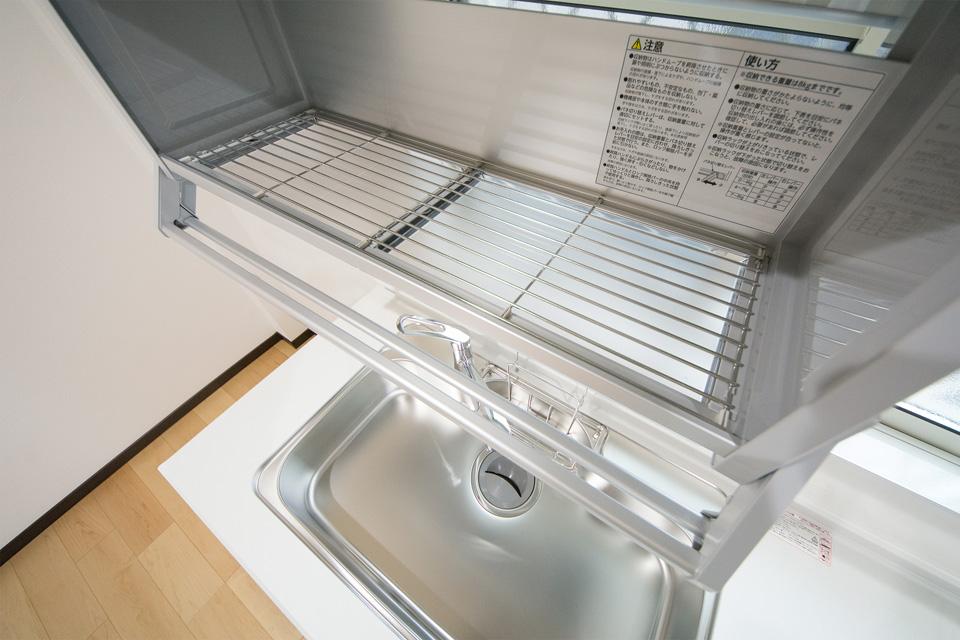 水切りタイプなので洗った食器をそのまま置けてとっても便利です。