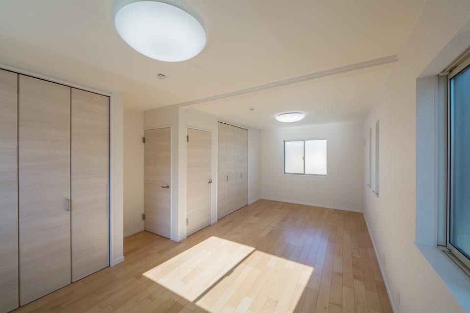 ご家族の変化に合わせてお部屋の増減が可能なフレキシブルタイプ