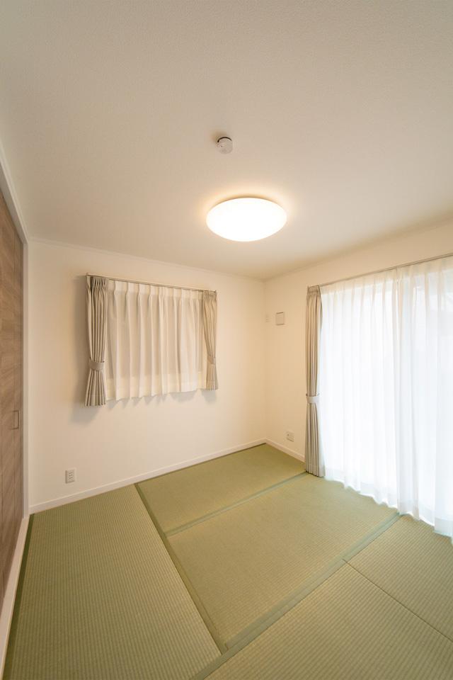 畳のさわやかなグリーンが心地良い空間に。