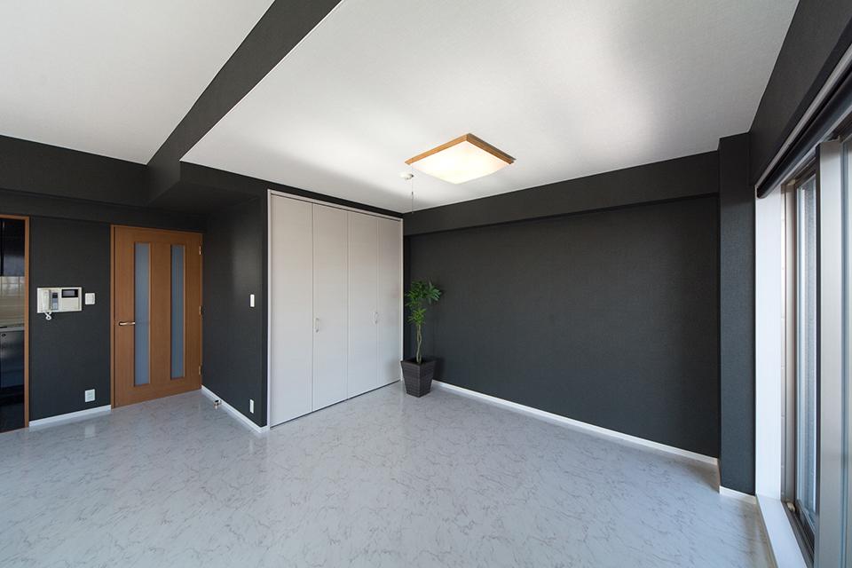和室を解体して、開放感ある大きめのリビングへ。