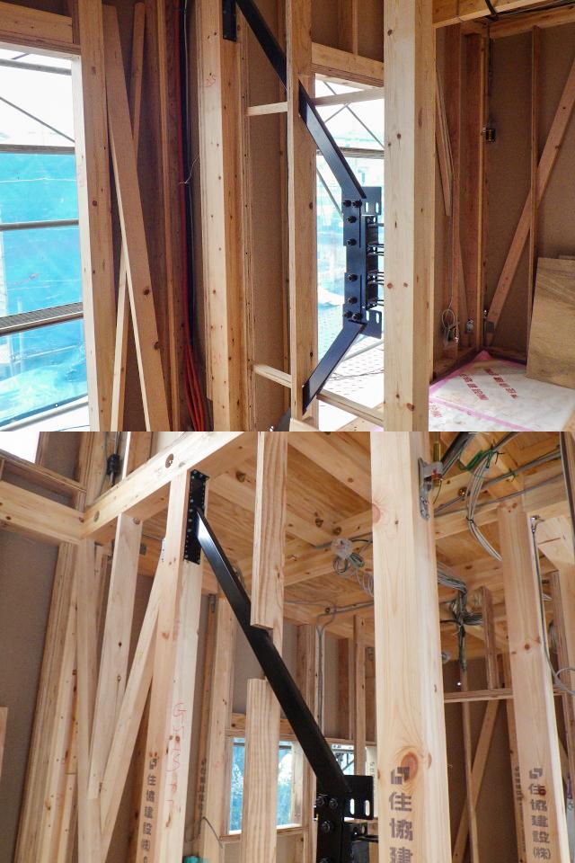 地震から家族も建物も守る、自社開発制振システム「GMAS(ジーマス)」を設置した安心の住まい。(施工時)