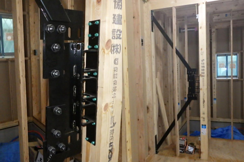 地震から家族も建物も守る、自社開発制振システム「GMAS(ジーマス)」を設置した安心の住まい。