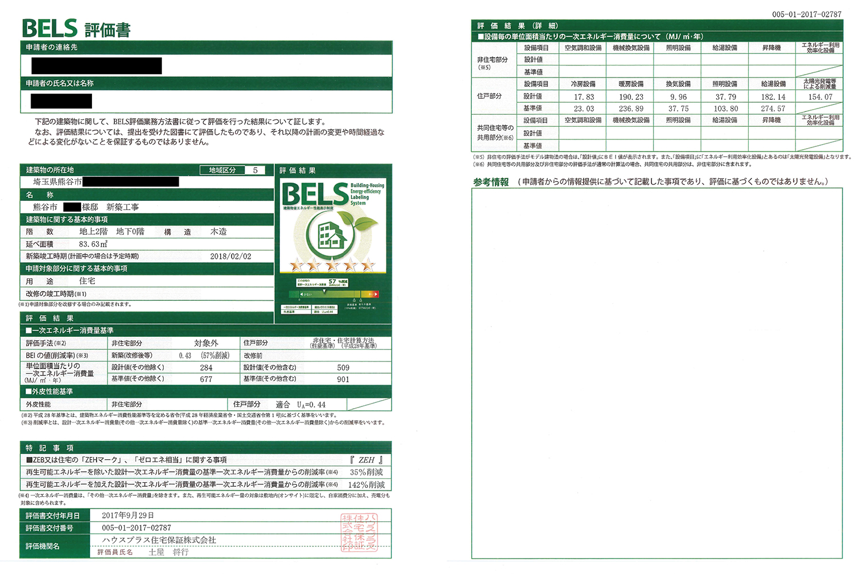 BELS評価書