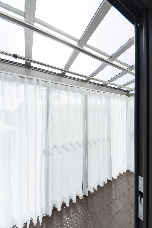 サンルーム/将来、2階へ行かなくてもこちらで洗濯物が干せる様、設置しました。