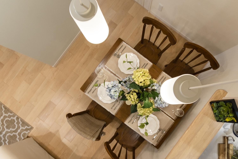自然とみんなが集まる快適スペース。家族と過ごす時間を大切にした住空間。