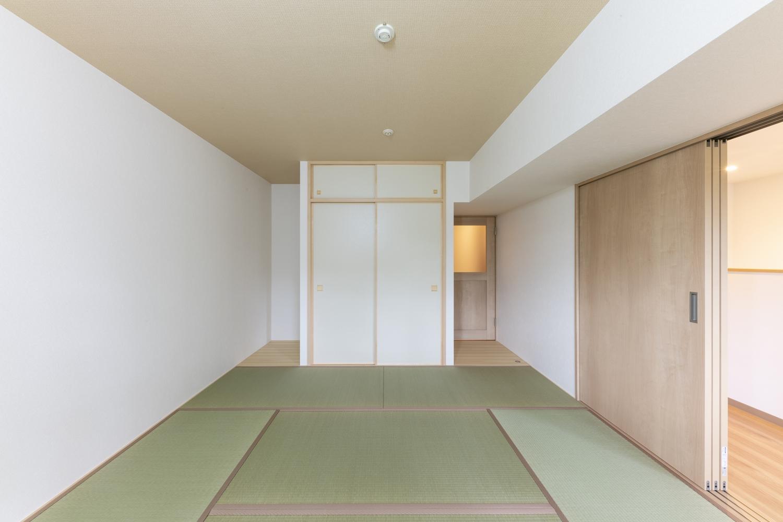 爽やかなグリーンが空間を彩る畳のお部屋。