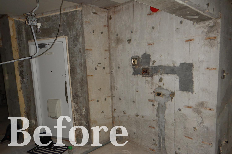 Before/スケルトン状態の玄関