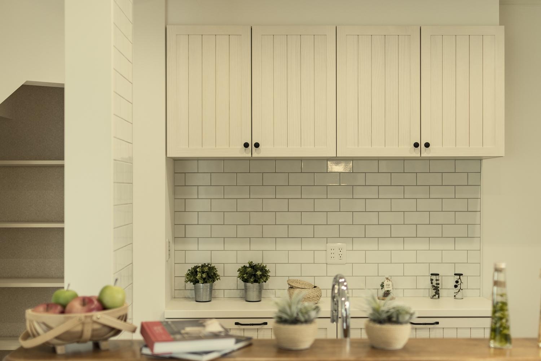 インテリアとしての美しさを兼ね備えた、キッチンスペース。