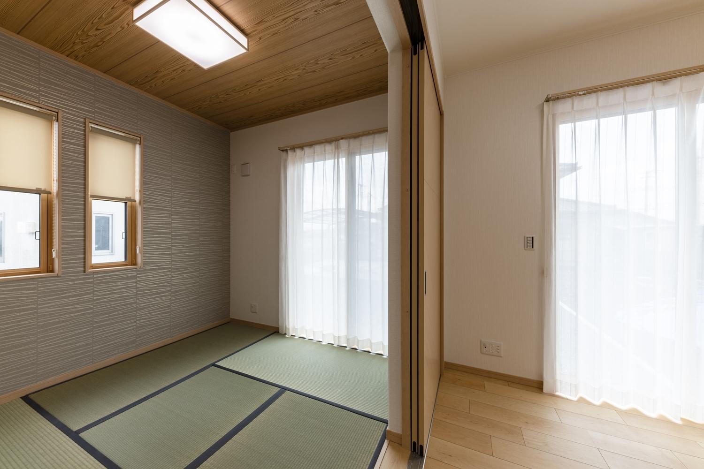 ハイスタッドの畳スーペースは、段差のないバリアフリーに。